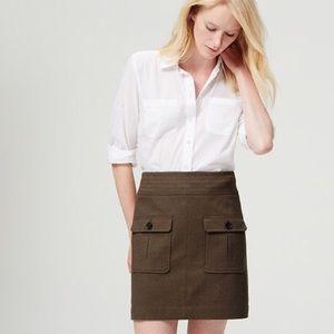 Loft Utility Mini Skirt Hidden Zip Patched Pockets